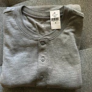 NWT Men Gap Henley Long sleeve shirt top M